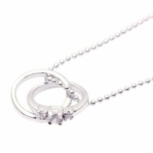 天然ダイヤ×4月誕生石ダイヤモンド2連リングトップネックレス ギフト 送料無料
