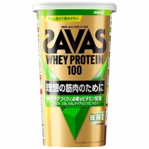 ◆明治 ザバス ホエイプロテイン100 抹茶風味 14食分 294g