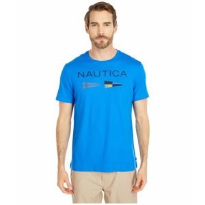 ナウティカ メンズ シャツ トップス Nautica Flags Tee Blue