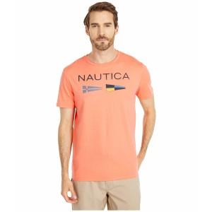 ナウティカ メンズ シャツ トップス Nautica Flags Tee Orange