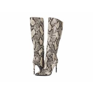 スティーブ マデン レディース ブーツ&レインブーツ シューズ Olga Over-the-Knee Boot Natural Snake
