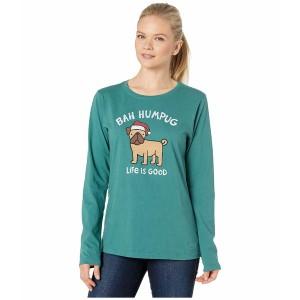 ライフイズグッド レディース シャツ トップス Long Sleeve Crusher Bah Humpug T-Shirt Spruce Green