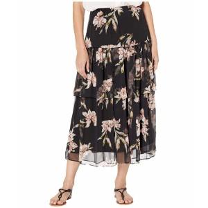 ラルフローレン レディース スカート ボトムス Tiered Georgette Peasant Skirt Polo Black Multi