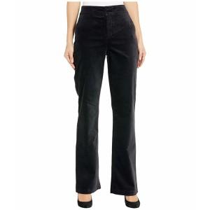 エヌワイディージェイ レディース カジュアルパンツ ボトムス Velvet High-Waist Trouser Pants Black