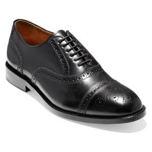 コールハーン メンズ ドレスシューズ シューズ Cole Haan American Classics Kneeland Cap Toe Oxford (Men) Black Leather