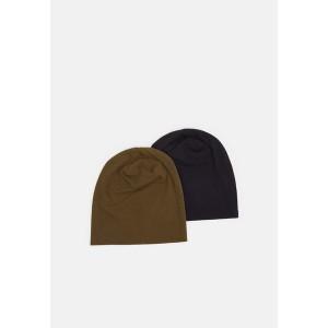 ピアワン メンズ 帽子 アクセサリー 2 PACK - Beanie - dark blue/khaki dark blue/khaki