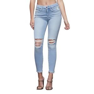 グッドアメリカン レディース デニムパンツ ボトムス Good Legs High Waist Ripped Ankle Skinny Jeans BLUE379