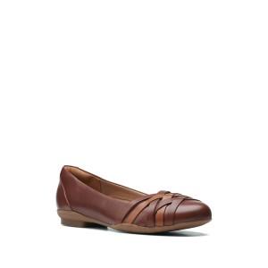 クラークス レディース サンダル シューズ Sara Clover Leather Strappy Flat - Multiple Widths Available MAHOGANY C
