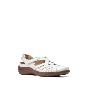 クラークス レディース サンダル シューズ Cora Dream Leather Sandal - Multiple Widths Available WHITE LEAT