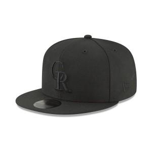 ニューエラ メンズ 帽子 アクセサリー Colorado Rockies Blackout 59FIFTY FITTED Cap Black