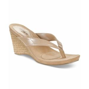 スタイルアンドコー レディース サンダル シューズ Chicklet Wedge Thong Sandals, Created for Macy's Nude