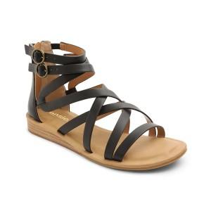 ケンジー レディース サンダル シューズ Women's Lanica Woven Ankle Sandal Black
