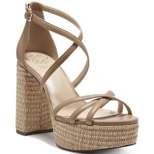 ヴィンスカムート レディース サンダル シューズ Women's Garnitta Strappy Platform Sandals Tortilla/Light Natural