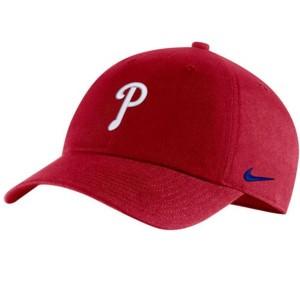 ナイキ メンズ 帽子 アクセサリー Philadelphia Phillies Nike Heritage 86 Team Performance Adjustable Hat Red