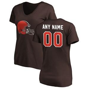 ファナティクス レディース Tシャツ トップス Cleveland Browns Fanatics Branded Women's Personalized Winning Streak Name & Number V