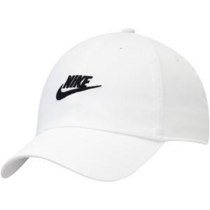 ナイキ メンズ 帽子 アクセサリー Nike Futura Heritage 86 2.0 Team Adjustable Hat White
