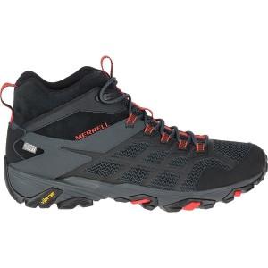 メレル メンズ ハイキング スポーツ Moab FST 2 Mid Waterproof Boot - Men's Black/Granite