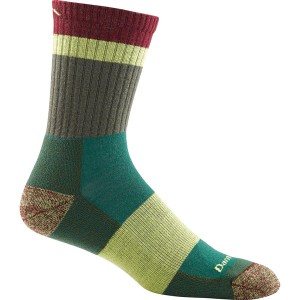ダーンタフ メンズ 靴下 アンダーウェア Heady Stripe Micro Crew Light Cushion Sock - Men's Green