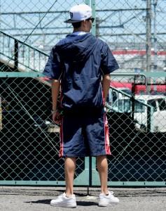 ウィンドブレーカー 上下 メンズ ナイロン ジャージ セットアップ 半袖パーカー ハーフパンツ 大きいサイズ ストリート ファッション DOP