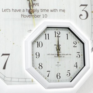【名入れ ギフト プレゼント】掛け時計 名入れ電波時計 八角 お祝いギフト 退職祝い 誕生日