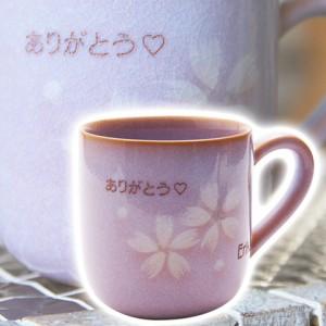 【名入れ ギフト プレゼント】マグカップ・コーヒーカップ 萩焼 名入れマグカップ 花だより 木箱入り お祝いギフト 還暦祝いなど
