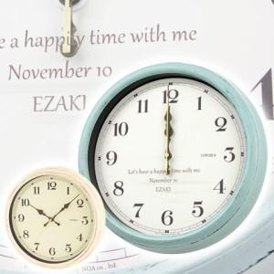 【名入れ ギフト プレゼント】掛け時計 時計 レトロな名入れ電波時計 お祝いギフト 結婚祝い 退職祝い