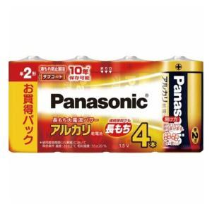 パナソニック アルカリ乾電池 単2形 4本パック LR14XJ/4SW (1807-0304)