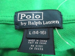 ポロラルフローレン POLObyRalphLauren 半袖ポロシャツ L レディース ビッグポニー グリーン【中古】
