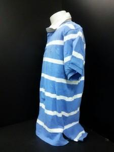 ポロラルフローレン POLObyRalphLauren 半袖ポロシャツ L メンズ ライトブルー×白 ボーダー【中古】