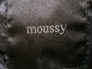 マウジー moussy ブルゾン サイズ2 M レディース アイボリー×黒 チェック柄【中古】