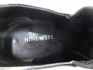 ナインウエスト NINE WEST ブーティ 5 M レディース 黒 エナメル(レザー)×化学繊維【中古】