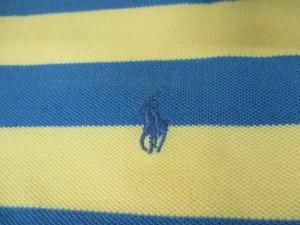 ポロラルフローレン POLObyRalphLauren 半袖ポロシャツ M メンズ 美品 イエロー×ブルー ボーダー【中古】