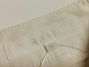 アナイ ANAYI パンツ サイズ34 S レディース 白【中古】