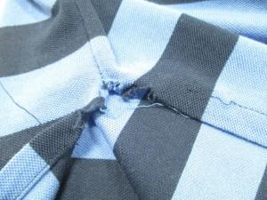 ポロラルフローレン POLObyRalphLauren 半袖ポロシャツ M メンズ ネイビー×ライトブルー ボーダー【中古】
