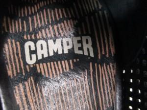 カンペール CAMPER ブーティ 35 レディース 黒×ブラウン メッシュ レザー【中古】