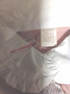 シークレットハニー Secret Honey 長袖ポロシャツ レディース 美品 ピンクベージュ×アイボリー【中古】