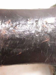 フィロソフィーディアルベルタフェレッティ ミュール 37 レディース 黒×パープル×ダークブラウン ハラコ×化学繊維×ウッド【中古】