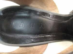 マルニ MARNI サンダル 36 レディース グレー×黒×ダークブラウン レザー×ラバー【中古】