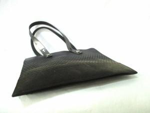 オルチアーニ ORCIANI ハンドバッグ 黒 PVC(塩化ビニール)×レザー【中古】