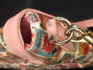 サマンサタバサプチチョイス ショルダーバッグ ピンク×マルチ ディズニーコラボ/ショルダーストラップ取外し可【中古】