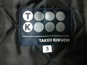 ティーケータケオキクチ TK ブルゾン 3 メンズ カーキ×黒 冬物/中綿【中古】