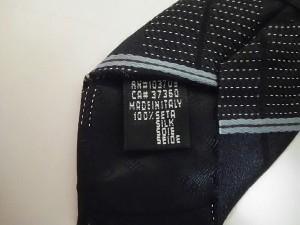 ジョルジオアルマーニ GIORGIOARMANI ネクタイ メンズ 美品 黒×ライトブルー チェック柄【中古】