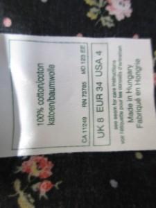 ローラアシュレイ LAURAASHLEY ワンピース サイズUK8 M レディース ダークネイビー×レッド×マルチ 花柄/ドット柄【中古】