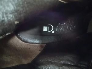 ダイアナ DIANA ロングブーツ 23 1/2 レディース 美品 ブラウン レースアップ レザー【中古】