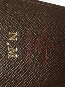 ルイヴィトン LOUIS VUITTON シガレットケース ダミエ エテュイ・シガレット N63024 エベヌ イニシャル刻印 ダミエ・キャンバス【中古】