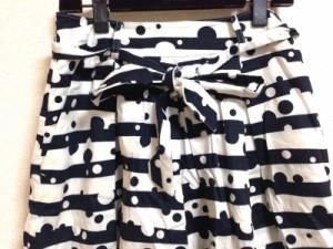 ローラアシュレイ LAURAASHLEY スカート サイズ1 S レディース 白×ダークネイビー london【中古】