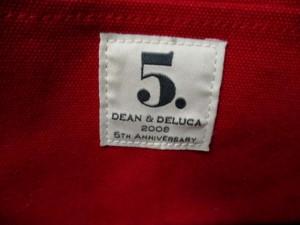 ディーンアンドデルーカ DEAN&DELUCA トートバッグ レッド 5TH ANNIVERSARY/ミニサイズ キャンバス【中古】