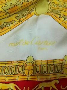カルティエ Cartier スカーフ ベージュ×イエロー×レッド【中古】