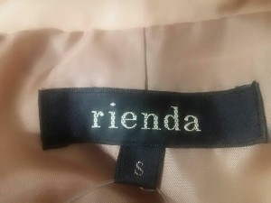 リエンダ rienda ダウンコート S レディース 美品 ライトブラウン 冬物【中古】