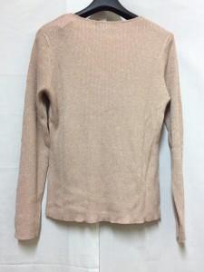 スーパービューティー SUPERBEAUTY 長袖セーター サイズ35 レディース ピンク ラメ/ビーズ【中古】